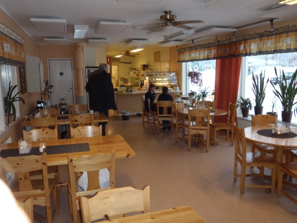Interiör från caféet, Bryggan