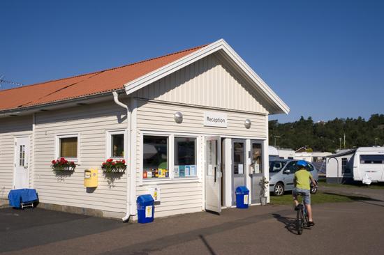 Receptionen på Åsa Camping