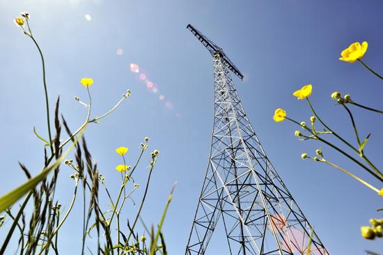 Världsarvet Grimeton Radiostation, den enda kvarvarande anläggningen i ett världsomspännande nätverk av långvågsstationer, strax öster om Varberg