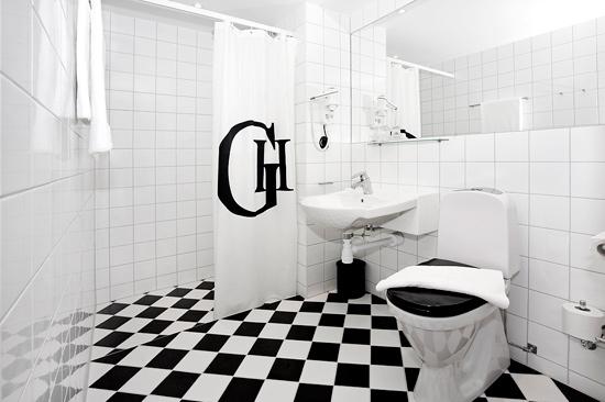 Stilrena badrum i alla 108 rum på BEST WESTERN PLUS Grand Hotel i Halmstad
