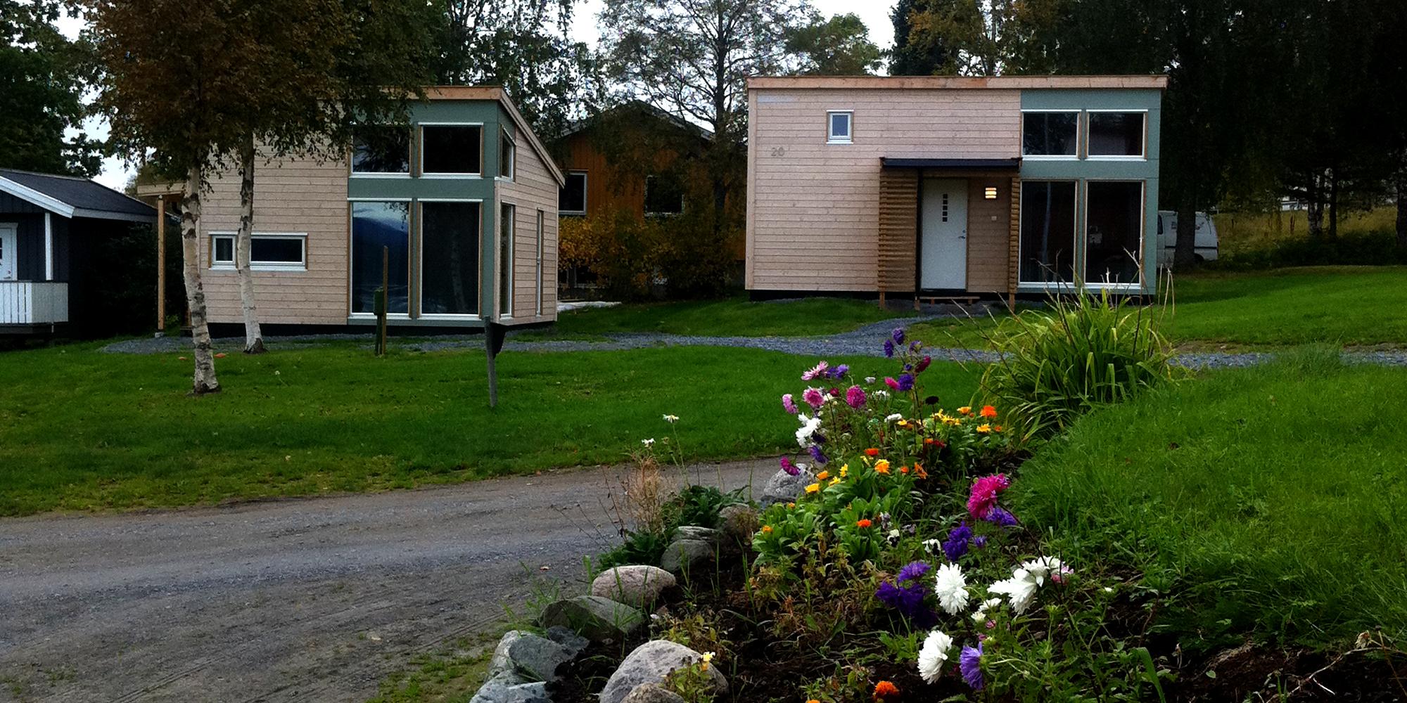 Kvam Motell og Camping - nye hytter. Copyright: Kvam Motell og Camping
