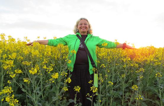 Följ med cykelguiden Susanne på en härlig cykeltur till halländska matproducenter