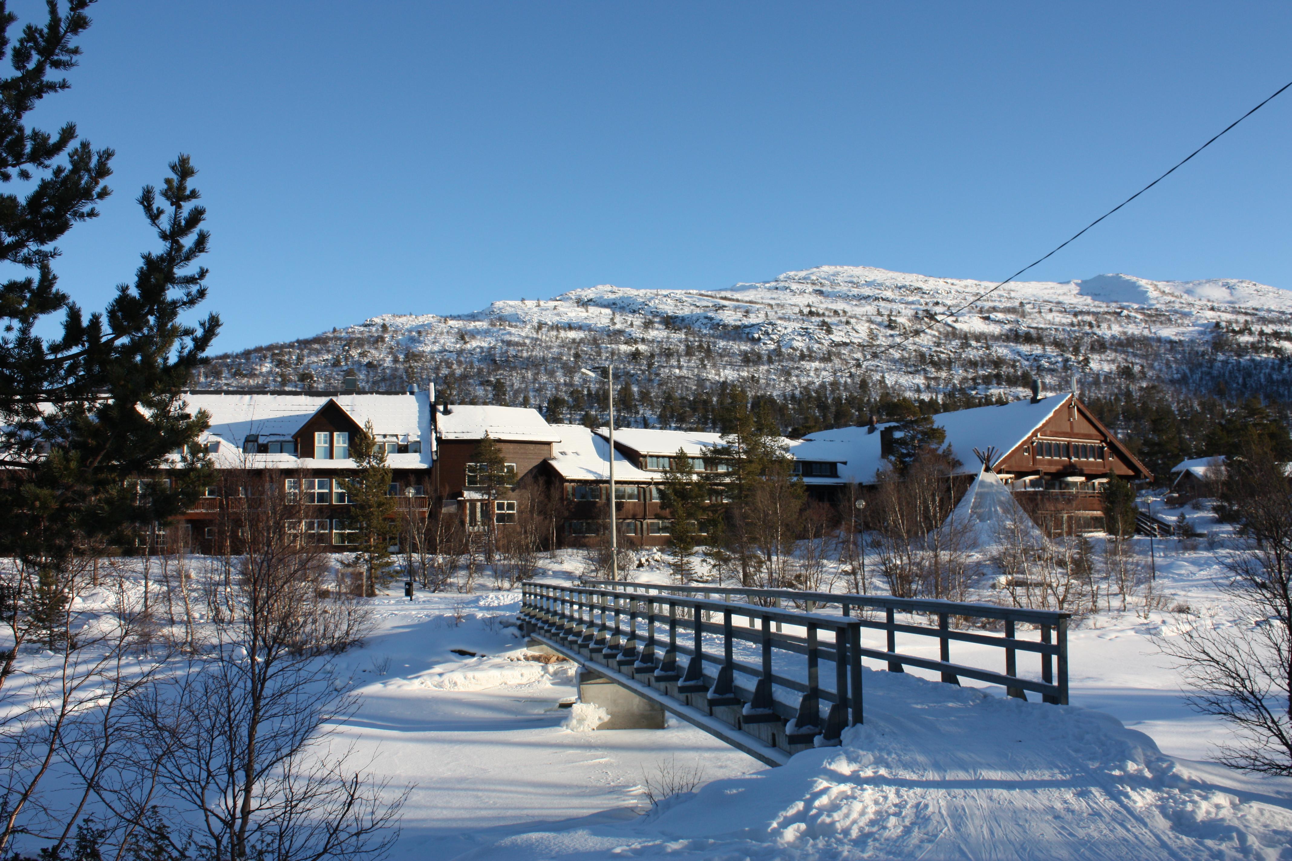 Hovdestøylen Hotell i vakkert vinterlandskap