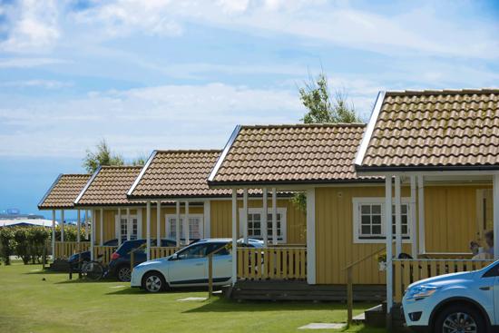 Getteröns Camping i Varberg har 25 stugor till uthyrning.