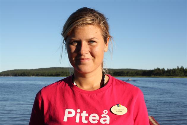 Sandra på turistbyrån 2010