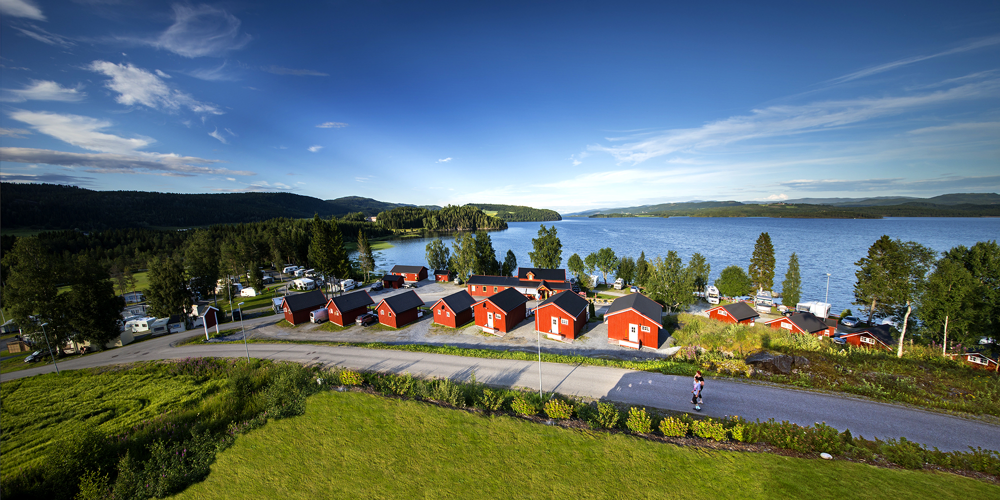 Overview picture of the camping site. Copyright: Steinar Johansen