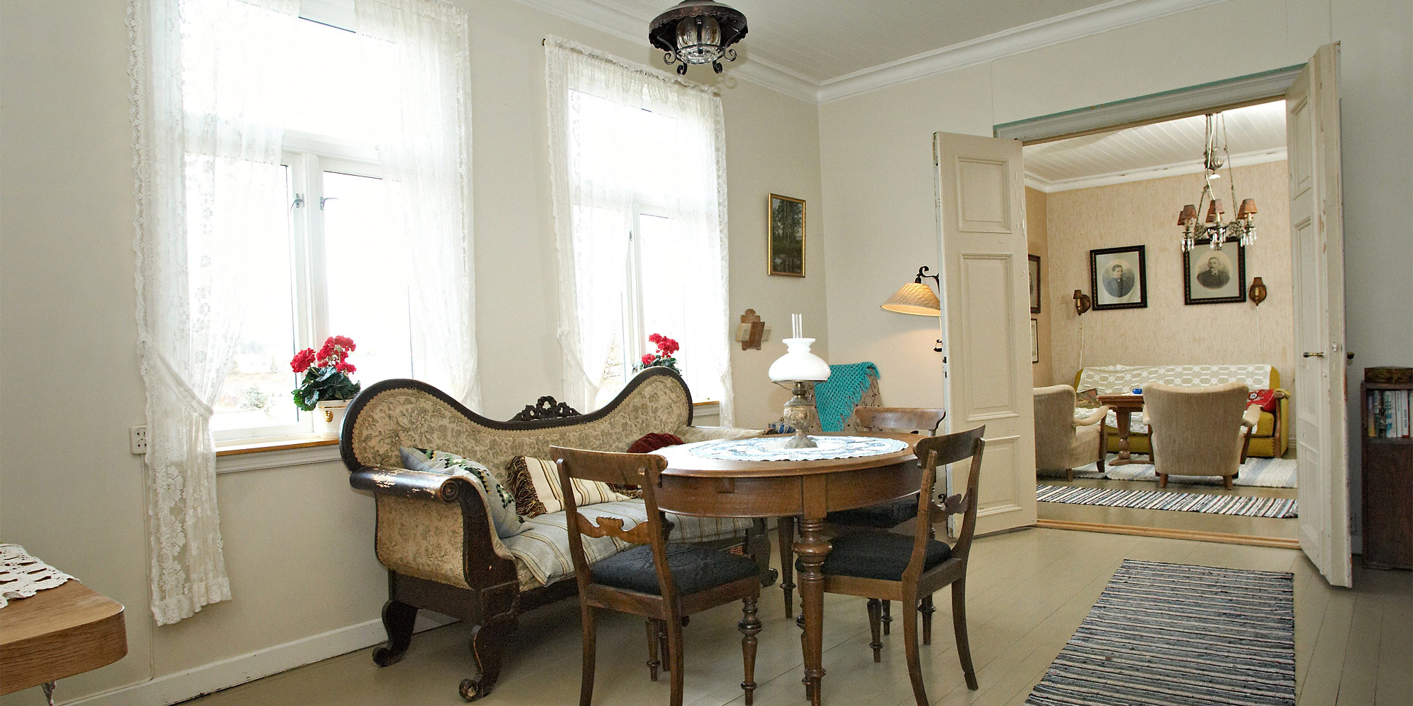 The living room at Strømnes. Copyright: Strømnes