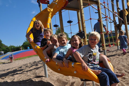 På Haverdals camping är det fullt av aktiviteter för små och stora barn