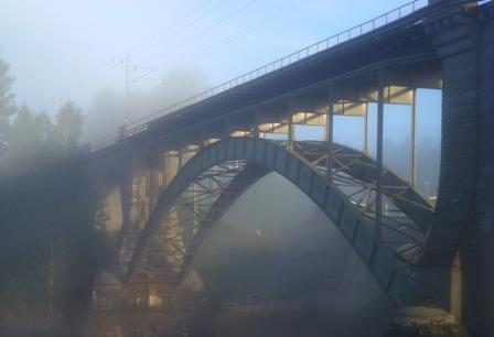Järnvägsbron Foto: Lasse Holm