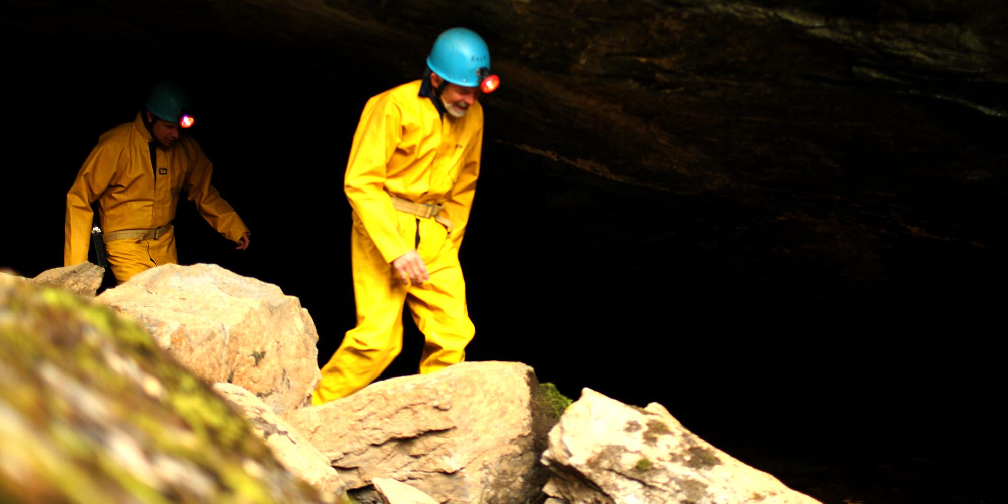 Limestone caves at Mokk farm. Copyright: Mokk gård