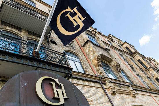 Fasadbild från BEST WESTERN PLUS Grand Hotel i Halmstad