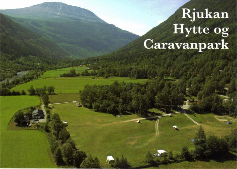 Rjukan Hytte og Caravanpark sette ovenfra  , © Rjukan Hytte og Caravanpark