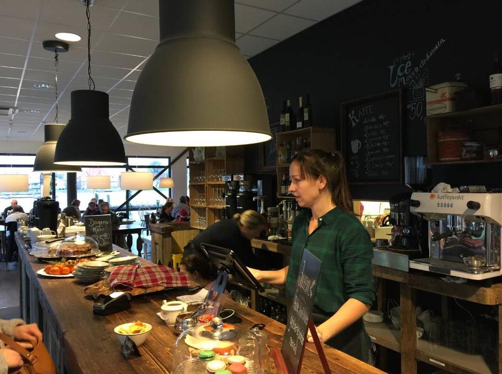 Elvebredden kafe i Porsgrunn.