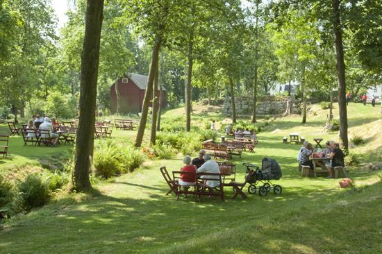 I Öströö Fårfarms fantastiska utemiljö kan du äta gott och lyssna på fåglarna