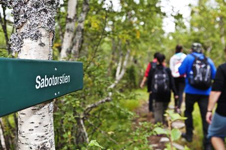 Sabotørstien is 8 km and goes from Rjukan Fjellstue to Norwegian Industrial Workers museum, © Fotograf Jacobsen