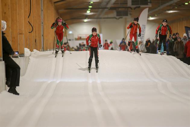 Bild från skidåkning inne i Kallatunneln, Ulf Gustavsson