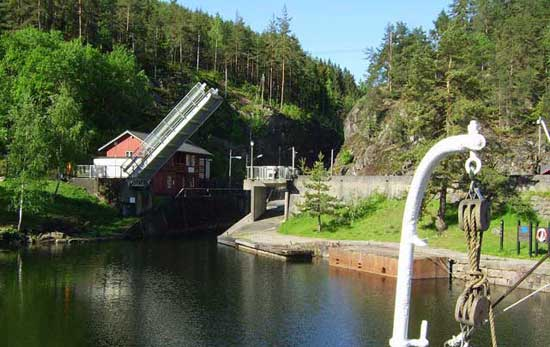 Locks of Løveid, Telemark Canal