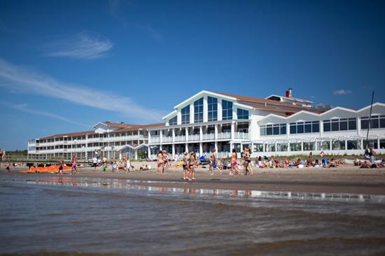 Falkenberg Strandbad, hotell-och spaanläggning precis vid havet