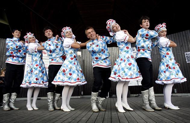Dansuuppvisning, Piteå kommun bildarkiv
