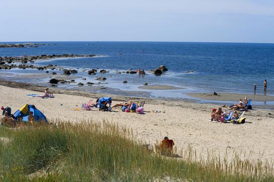 Du har 500 meter till havet när du bor på Rosendals camping