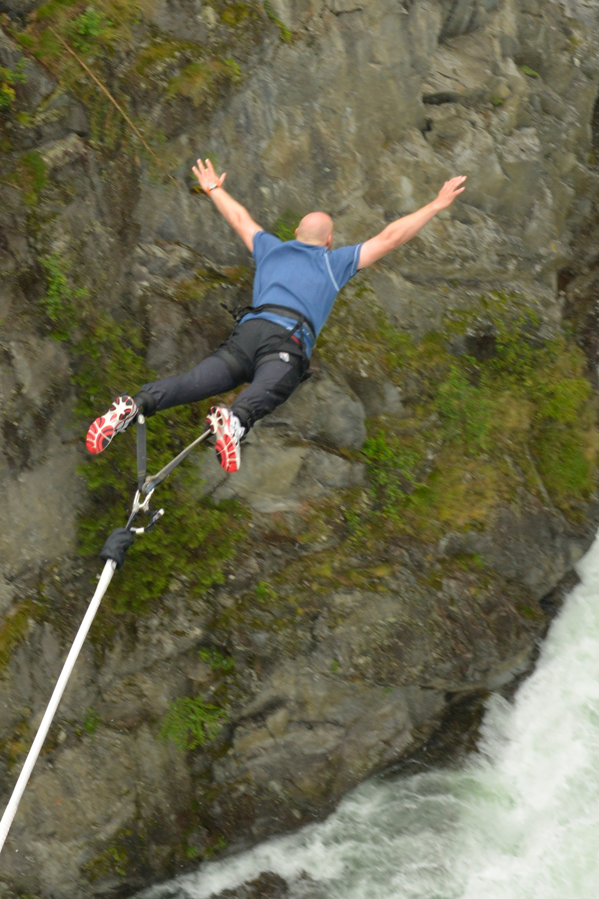 Bungee jumping at Rjukan is said to be the thoughest in Norway.  , © Nancy Bundt