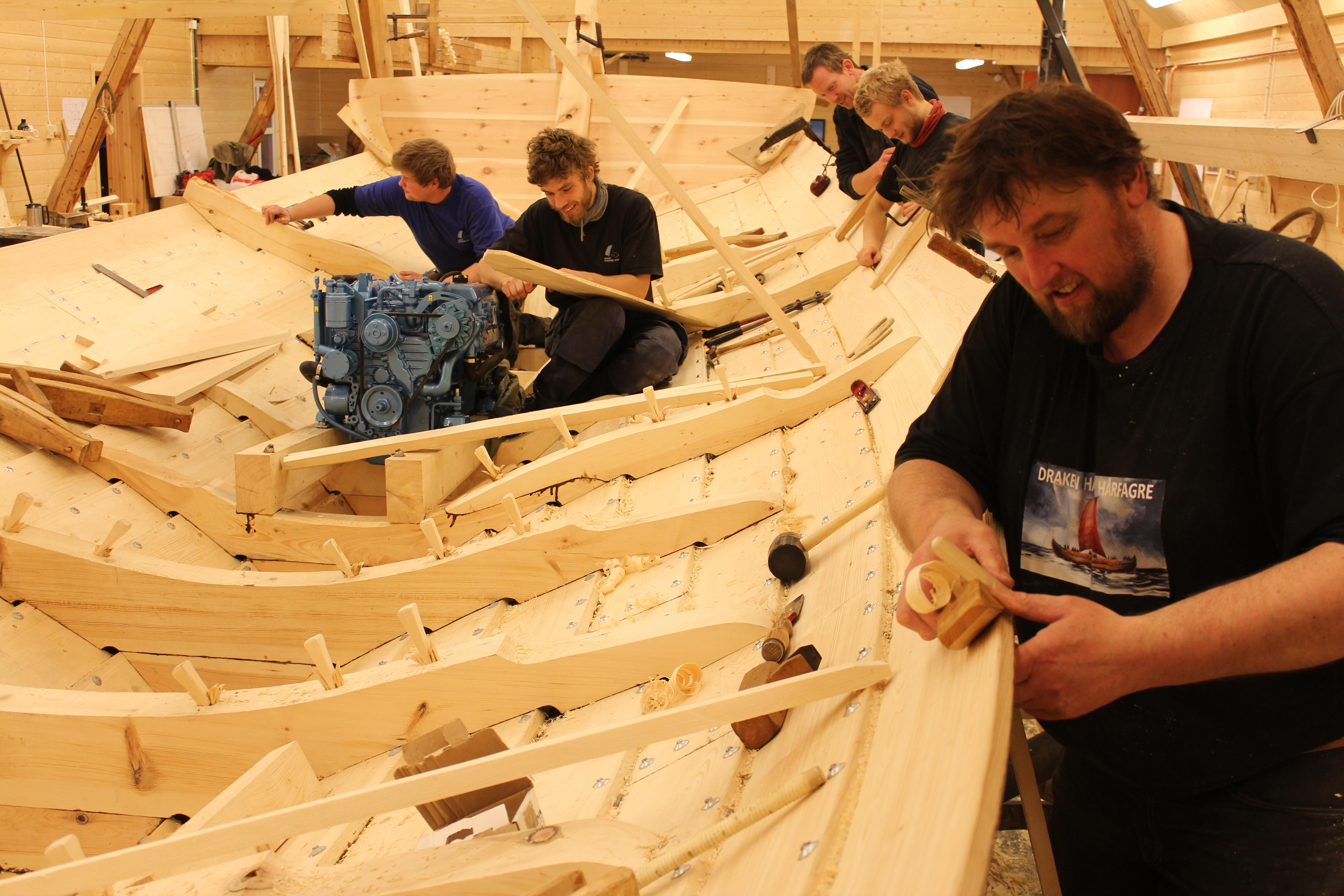 Båtskott båtbyggeri. Copyright: Museet Kystens Arv