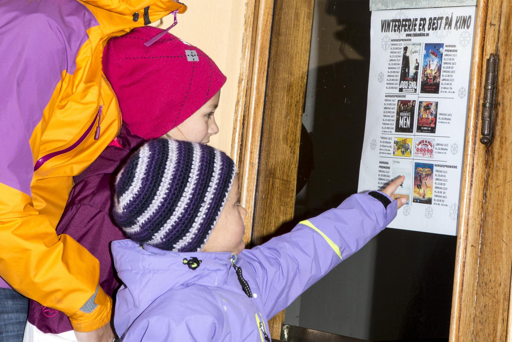 På Rjukan kino kan du se de nyeste filmene til en hver tid.  , © Fotograf Jacobsen