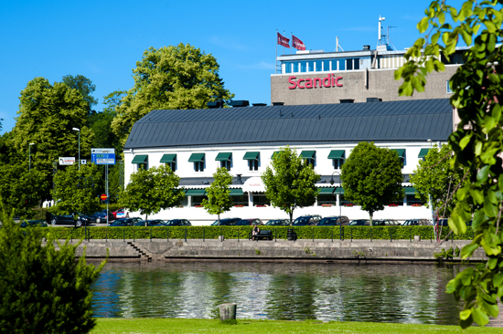 Hotell Scandic Hallandia och  restaurang SVEA ligger centralt i Halmstad