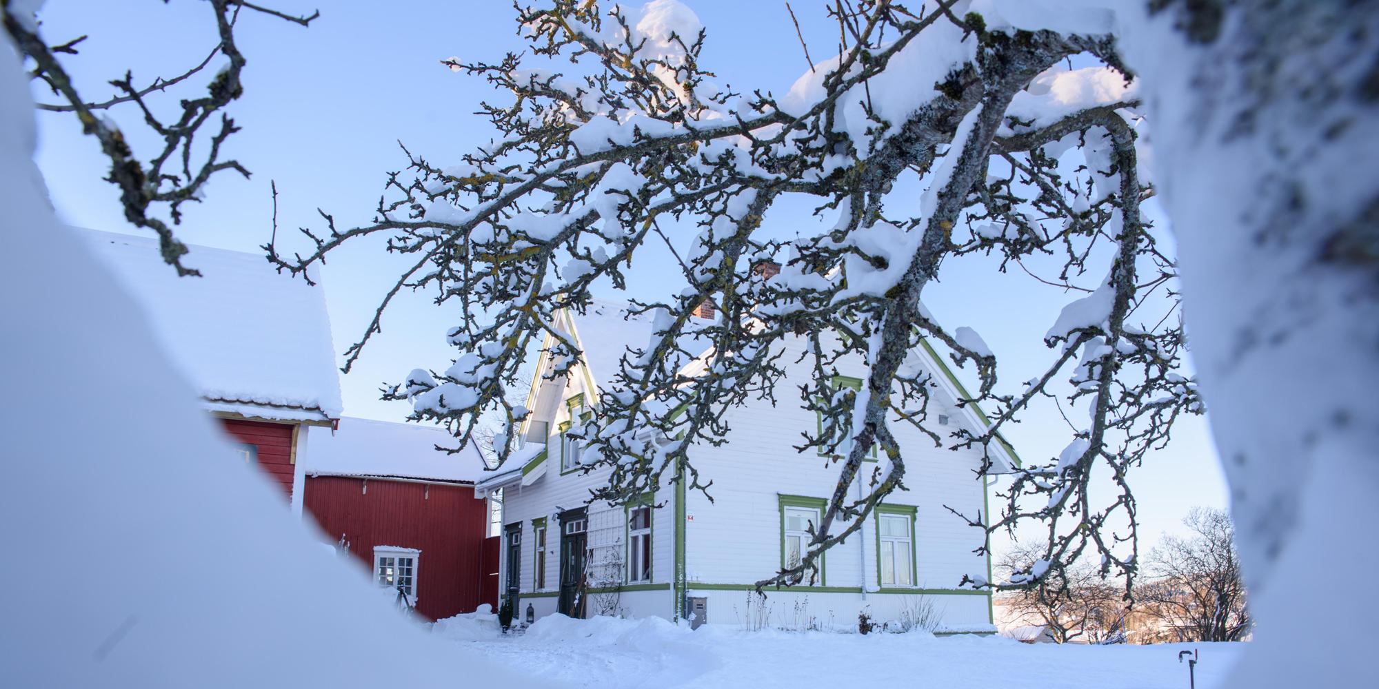 Strømnes - Great Grandfathers house in winter. Copyright: Strømnes
