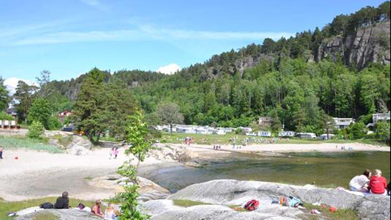 The coast of Telemark have a lot of nice places for bathing, this is Rognstranda