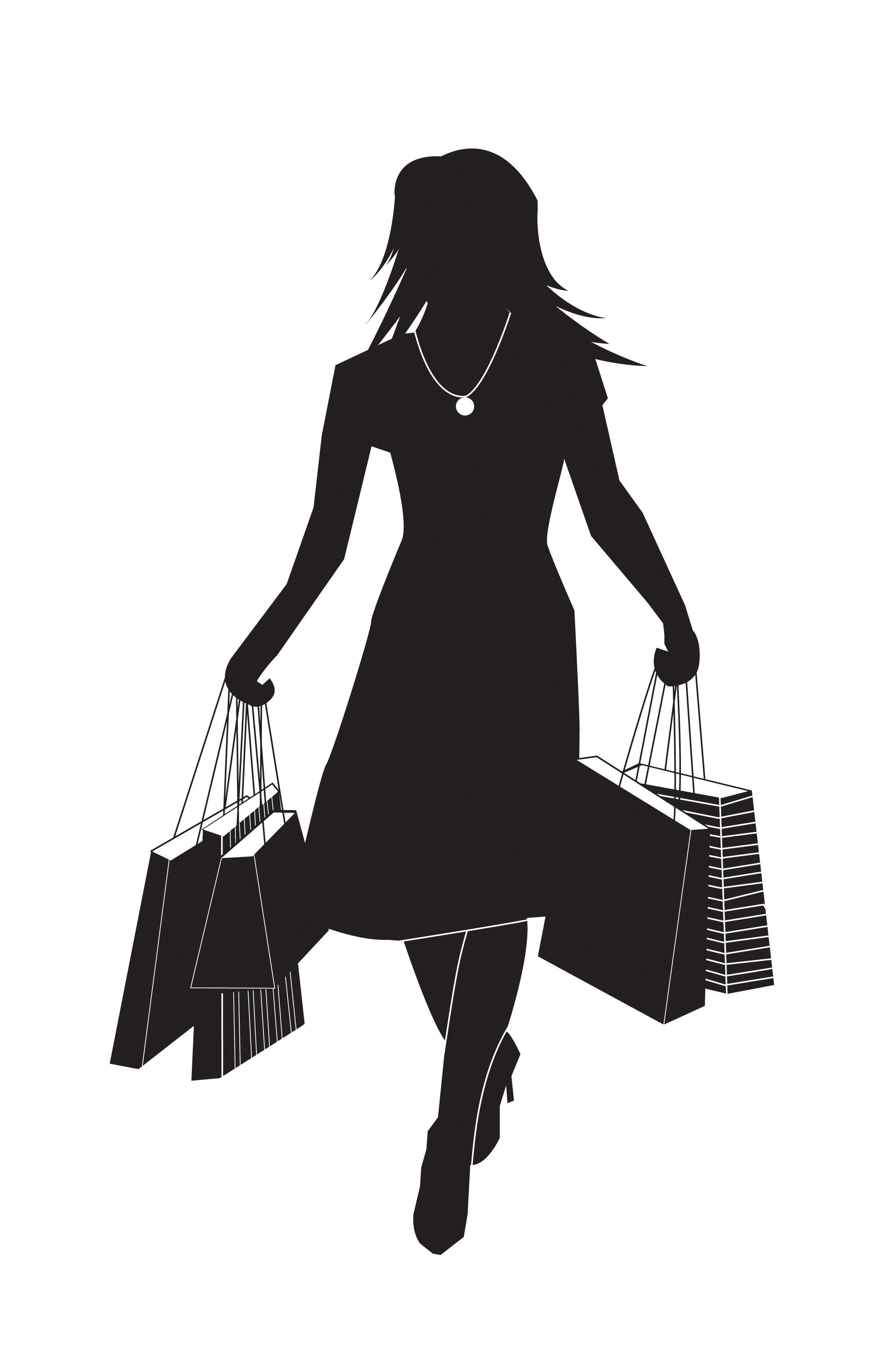 Illustration shoppingtjej