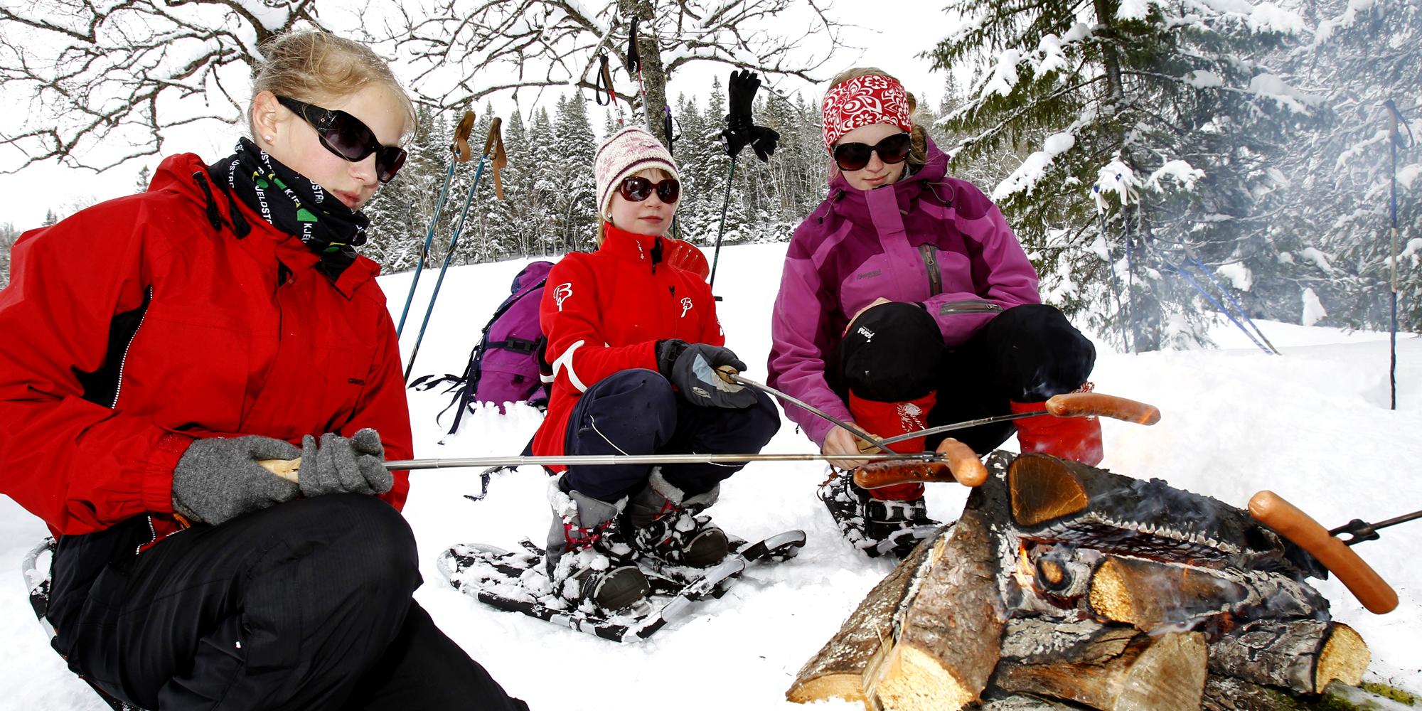 Mokk farm - snow shoeing. Copyright: Mokk gård