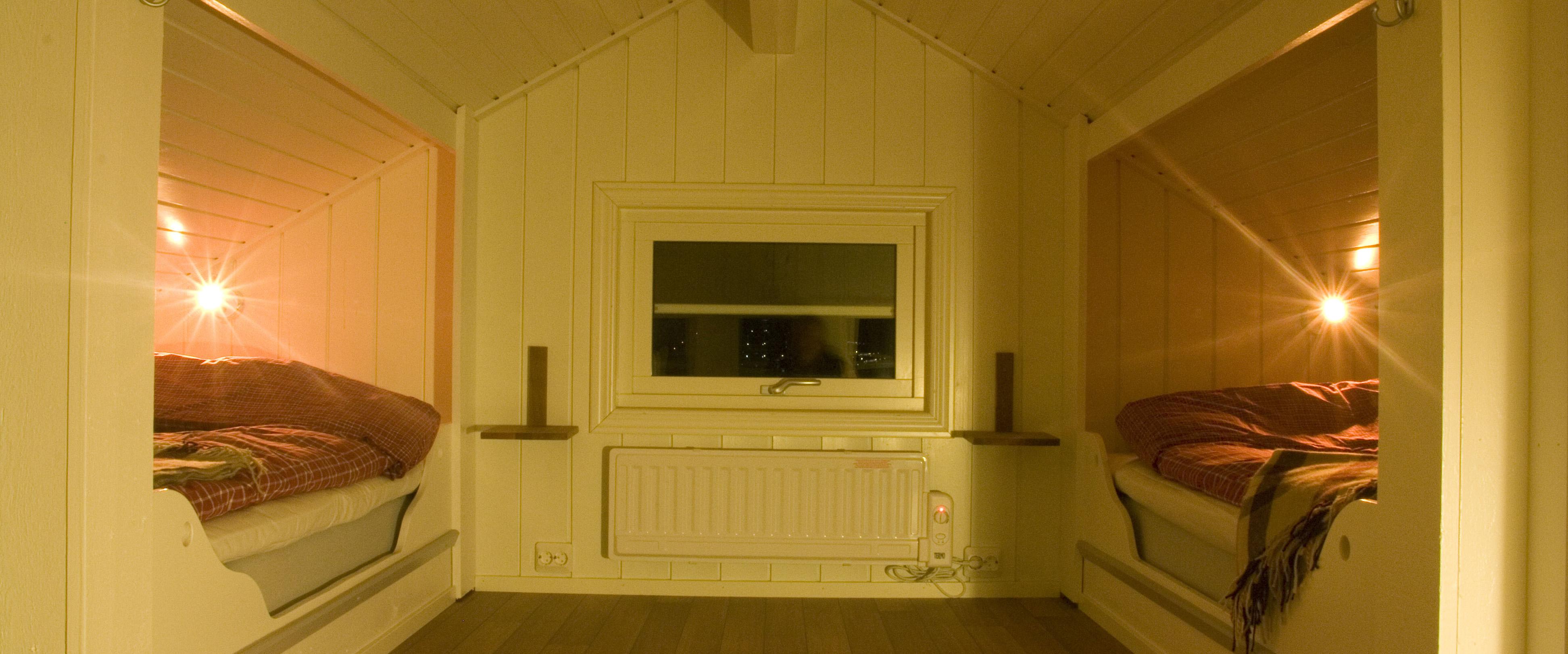 Björkbackens stuga loft.