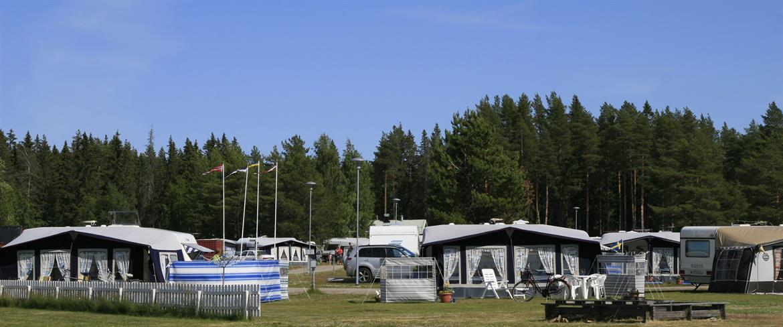 Husvagnar på campingen
