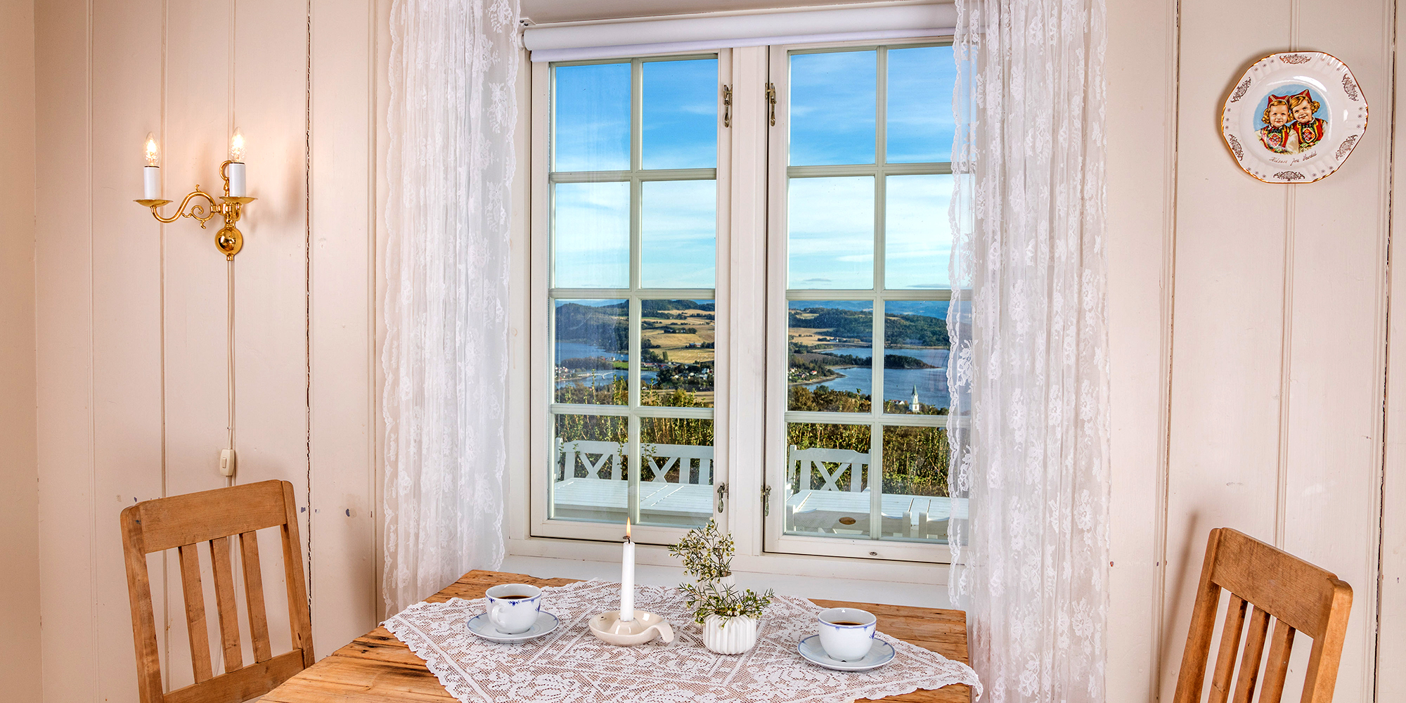 Husfrua gårdshotell - member of the GOlden Road,Inderøy - great view out of the window. Copyright: Husfrua Gårdshotell