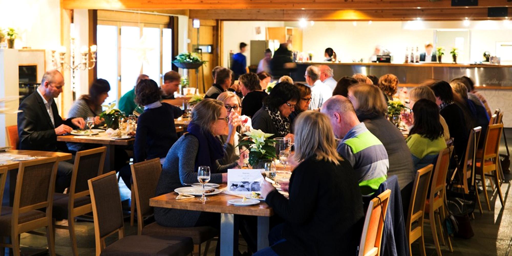 Restaurant Skalden på Stiklestad Hotell. Copyright: Stiklestad