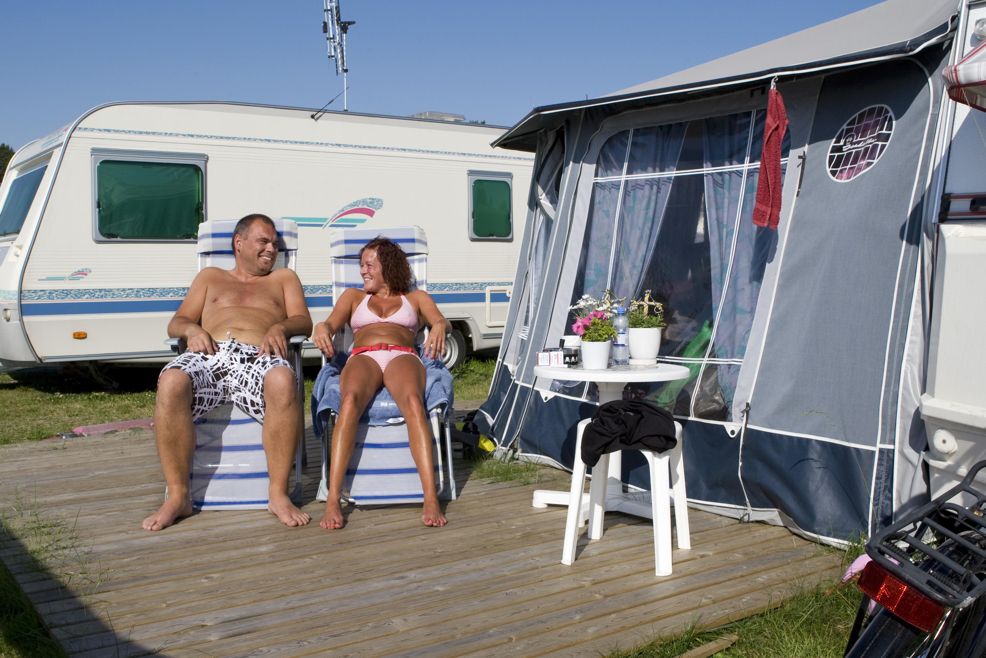 Campinggäster