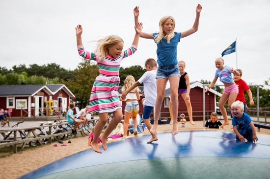 Läjets Camping i Varberg är en sammanslagning av Södra Näs Camping och Träslövsläges Familjecamping
