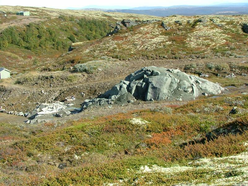 The Soap Stone Quarry at Sandbekkdalen in Kvikneskogen