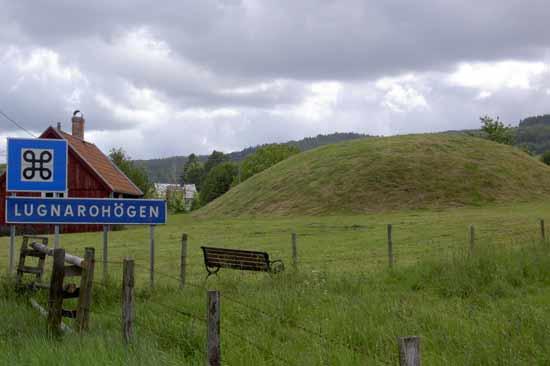 Lugnarohögen ligger i Hasslöv söder om Laholm