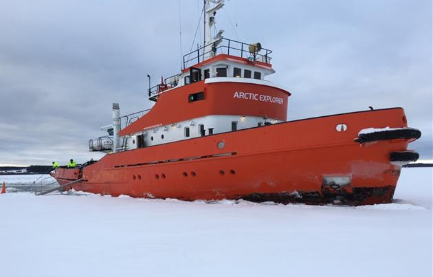Bild på the Arctic explorer, Pressbild