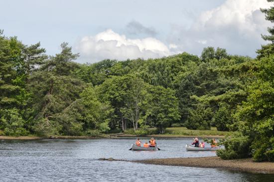 Underbara paddlingsvatten i Lagan mellan Knäred och Skogaby samt i Hjörneredssjöarna