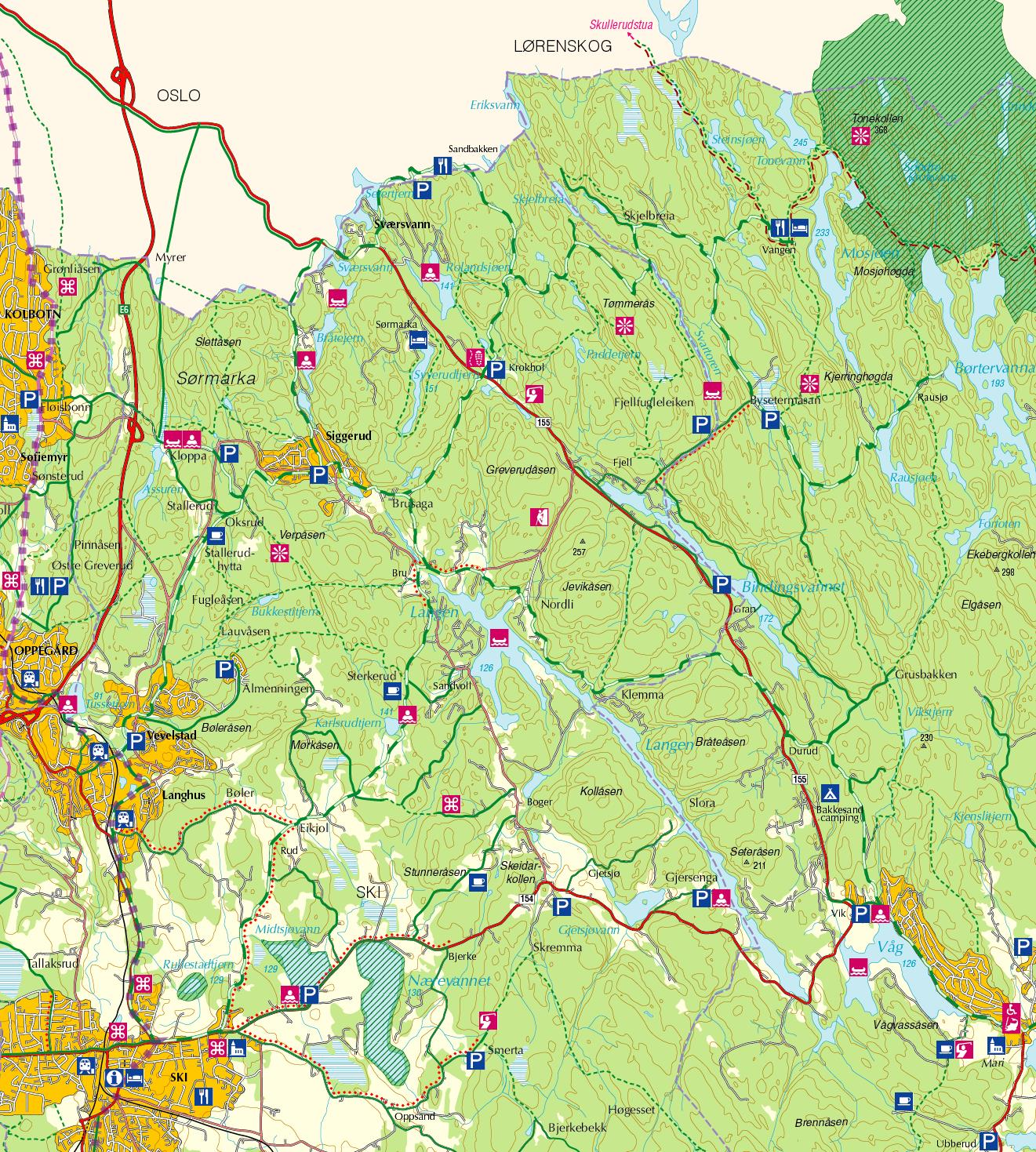 kart over enebakk Tips for sykling og vandring   Tips   Se & gjøre   akershus.com kart over enebakk