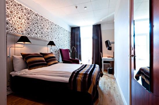 Enkelrum 206 på BEST WESTERN PLUS Grand Hotel, beläget på våning 2 in mot gården