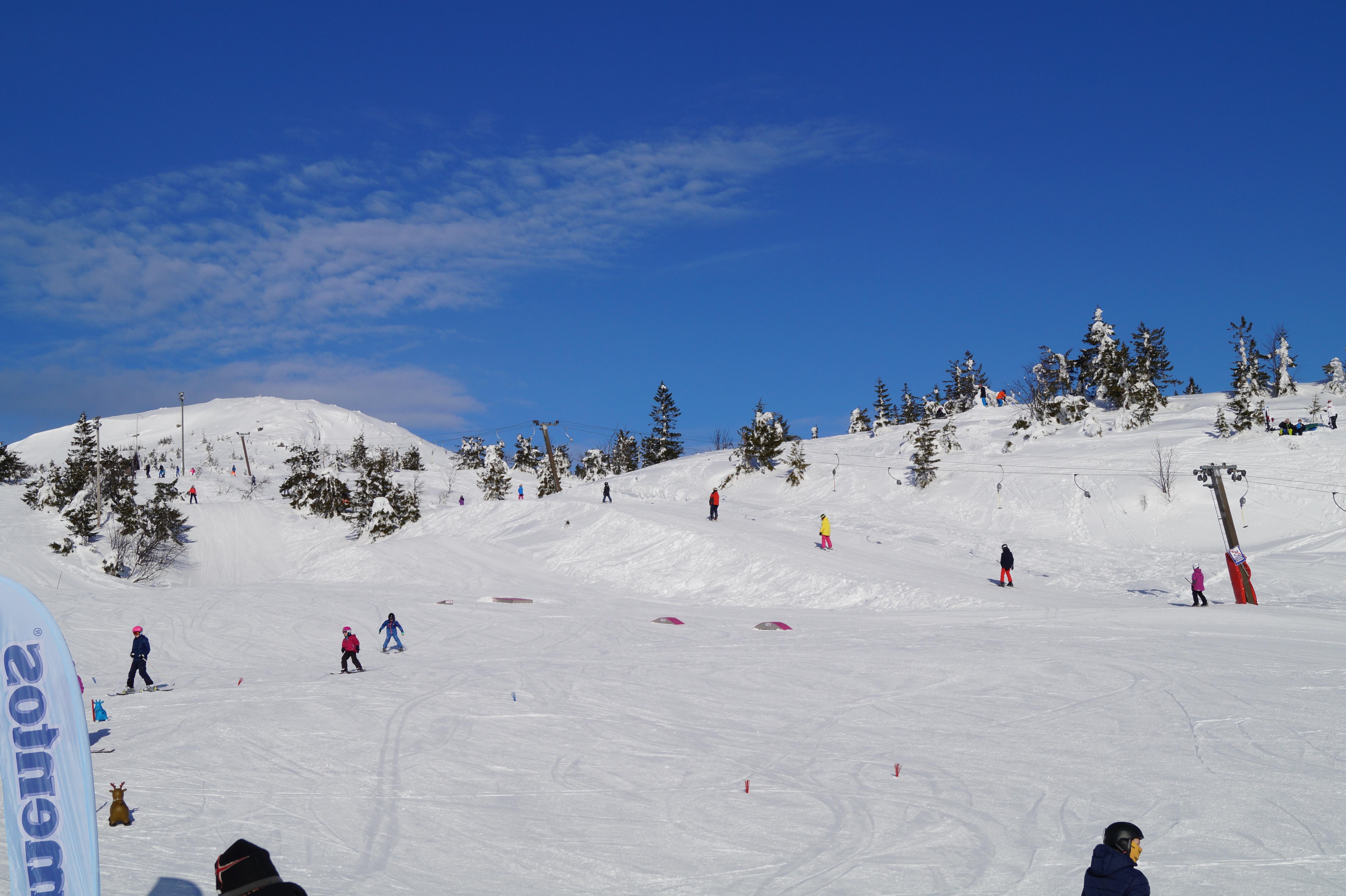 Kveldskjøring hos skisenteret