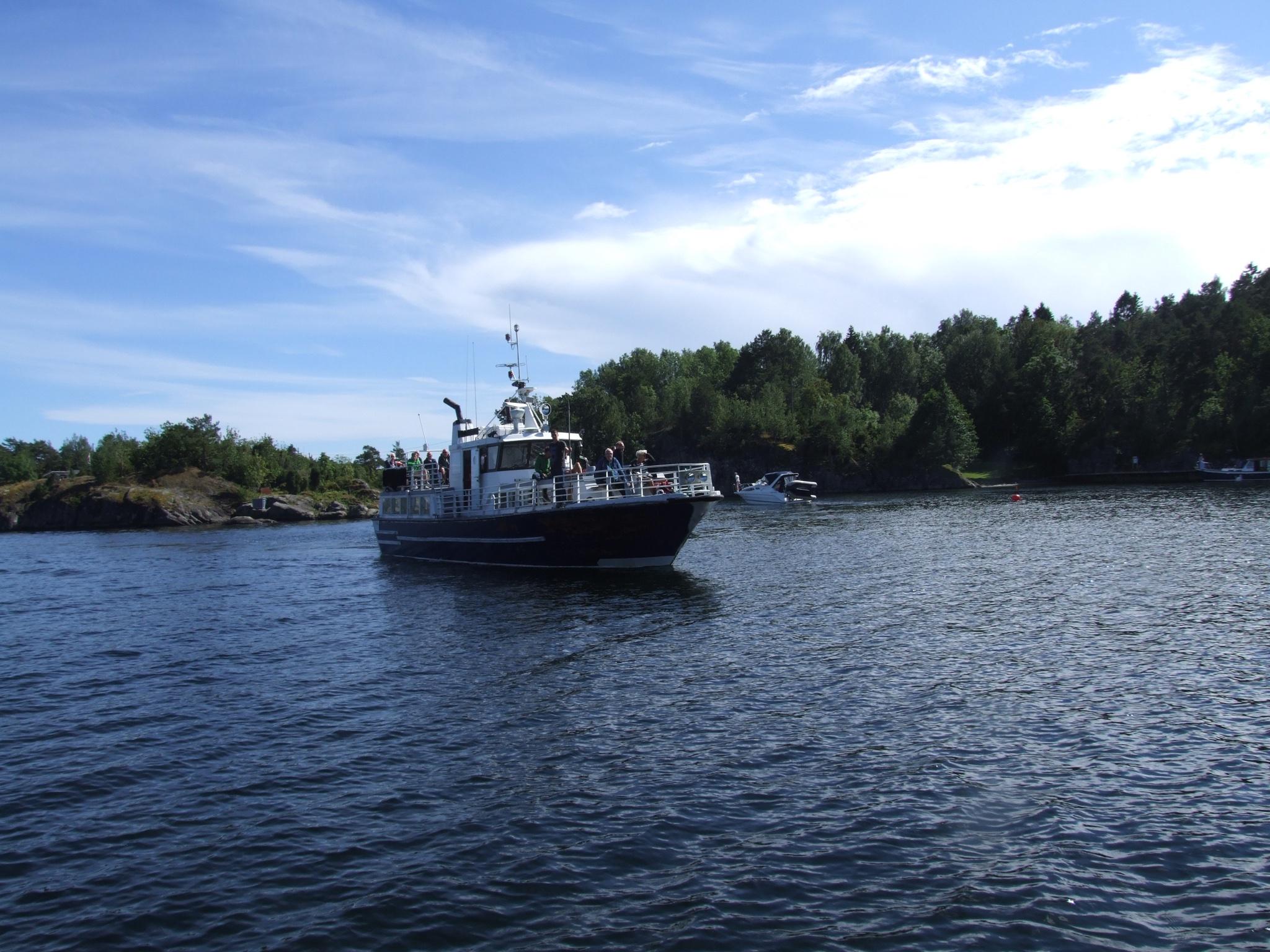 """Fergen """"Øyvind"""" som kjører mellom Helgeroa og Langesund"""