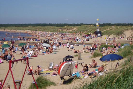Stranden i Vilshärad utanför Halmstad
