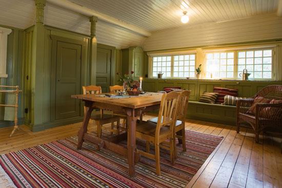 Vardagsrummet i Allmogebyn på Tjolöholms slott