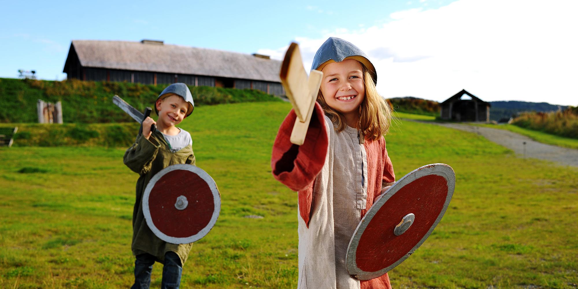 Stiklestadsommer på Stiklestad Nasjonale Kultursenter - vikingbarna - Photo: M RUA. Copyright: Stiklestad Nasjonale Kultursenter