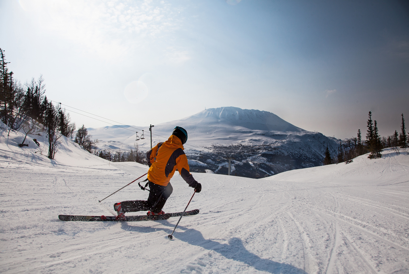 Gaustablikk Skisenter ligger flott til ved foten av Gaustatoppen. , © Gaustatoppen Booking/Trond Stegarud